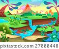 Funny prehistoric landscape volcanoes 27888448