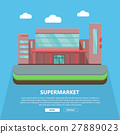 Supermarket Web Template in Flat Design 27889023