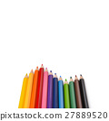 Wave of color pencil with copy space 27889520
