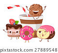 Bon Appetit. Funny Cartoon Characters Banner. 27889548