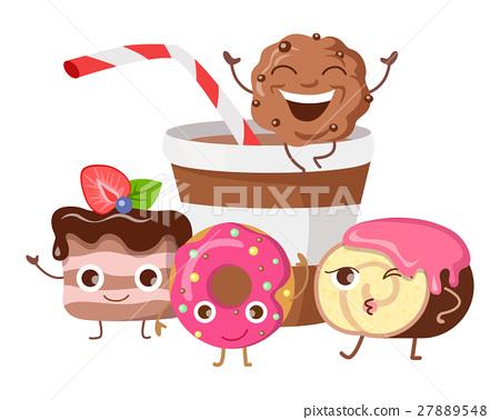 Bon Appetit. Funny Cartoon Characters Banner. 27889548