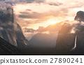 mountain, sunrise, valley 27890241