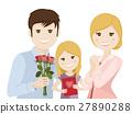 Family celebrating Mothers Day 27890288