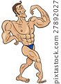 bodybuilder cartoon character 27892027