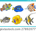 sea life fish characters set 27892077