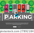Parking Conceptual Web Banner. Car Park. Vector 27892184