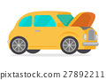 isolated, yellow, car 27892211