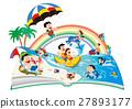 家庭旅行 休闲 海洋 27893177