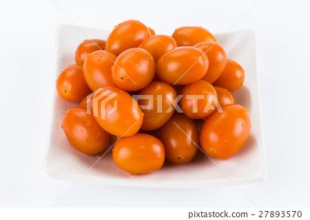 Virgin tomato on a white background 27893570