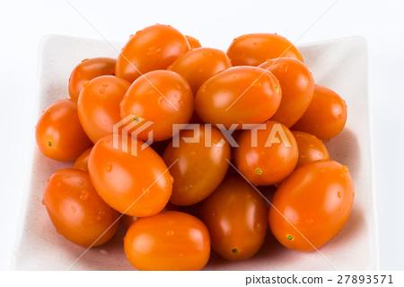 Virgin tomato on a white background 27893571