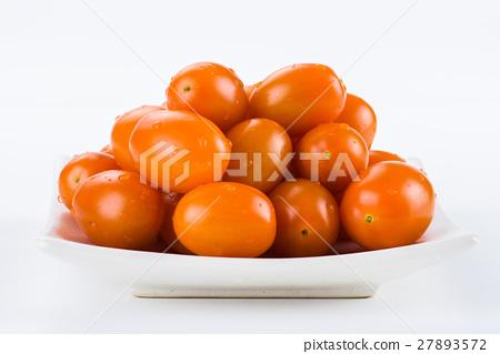 Virgin tomato on a white background 27893572