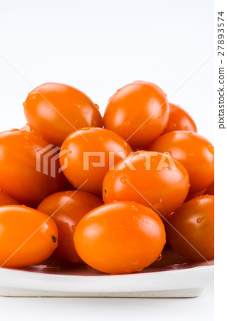 Virgin tomato on a white background 27893574