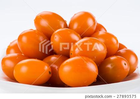 Virgin tomato on a white background 27893575
