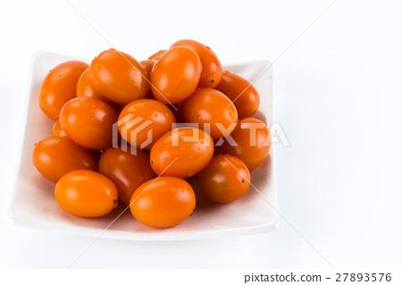 Virgin tomato on a white background 27893576