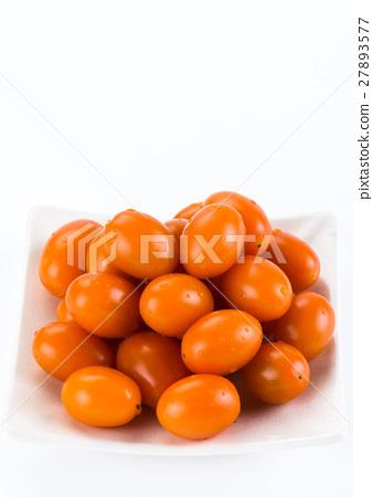 Virgin tomato on a white background 27893577