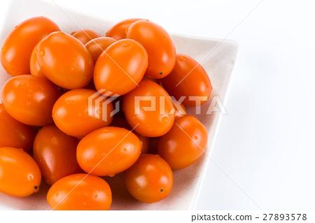 Virgin tomato on a white background 27893578