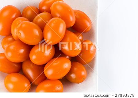 Virgin tomato on a white background 27893579