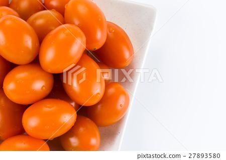 Virgin tomato on a white background 27893580