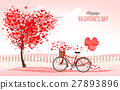 Valentine's Day background with a heart 27893896