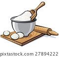 flour and eggs 27894222