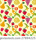 pattern, fruits, vector 27894225