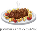 baked meat roulade 27894242