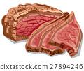 肉 切片的 熏肉 27894246