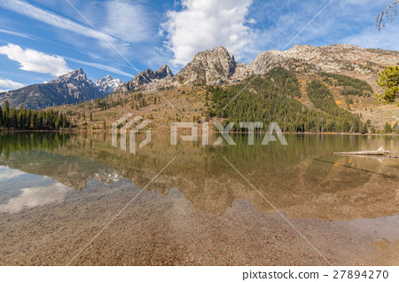 String Lake Fall Teton Reflection 27894270
