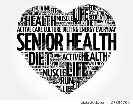 Senior health heart word cloud 27894700