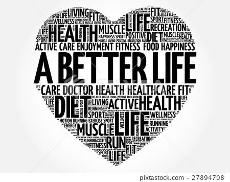 A Better Life heart word cloud, fitness 27894708