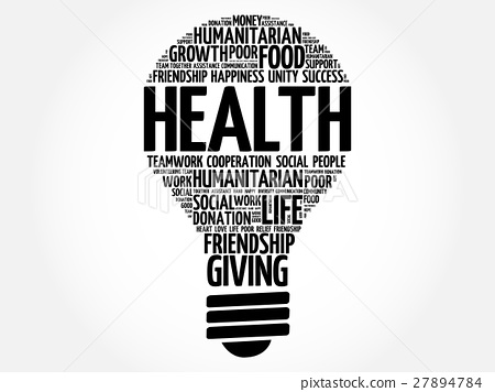 Health bulb word cloud 27894784