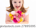 Little girl with flower bouquet 27895095