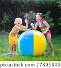 Kids playing with water ball toy 27895840
