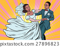 Wedding dance bride and groom 27896823