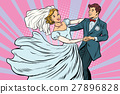 Wedding dance bride and groom 27896828