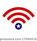 Wifi Icon Symbol USA Flag Concept 27900416