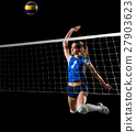Young girl volleyball player 27903623