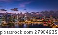 小艇停靠灣 新加坡 夜景 27904935