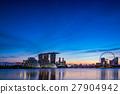 小艇停靠灣 新加坡 夜景 27904942