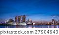 小艇停靠灣 新加坡 夜景 27904943
