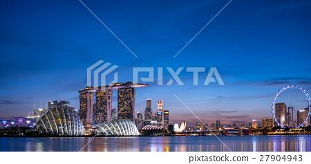 新加坡·濱海灣夜景 27904943
