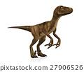 Velociraptor isolated on white background 27906526