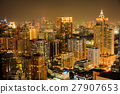 Bangkok skyline by night 27907653