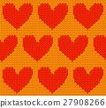 벡터, 심장, 노란색 27908266