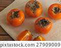 background, persimmon, fruit 27909009