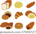 一套 面包 矢量 27909727