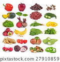set of fruit and vegetable on white background 27910859