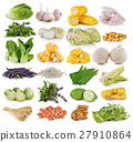 vegetable and grians on white background 27910864