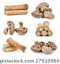 Fresh Burdock roots and shiitake mushroom 27910964