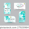 abstract business card, flyer design template. 27920964